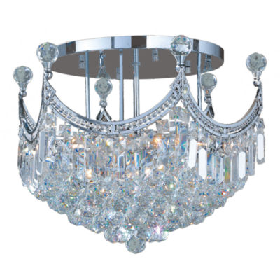 Empire Collection 9 Light Clear Crystal Round Flush Mount Ceiling Light