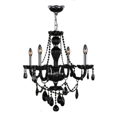Provence Collection 4 Light Chrome Finish Crystal Chandelier
