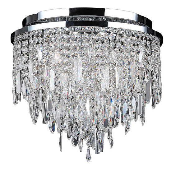 Tempest Collection 5 Chrome Finish Crystal Flush Mount Ceiling Light