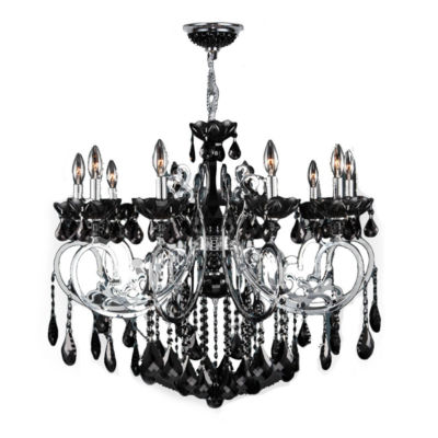 Kronos Collection 10 Light Chrome Finish and Crystal Chandelier