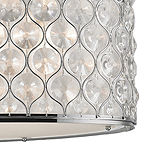 "Paris Collection 12 Light Chrome Finish with Clear Crystal Pendant L32"" W16"" H11"""