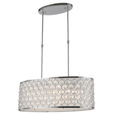 "Paris Collection 12 Light Chrome Finish with ClearCrystal Pendant L32"" W16"" H11"""