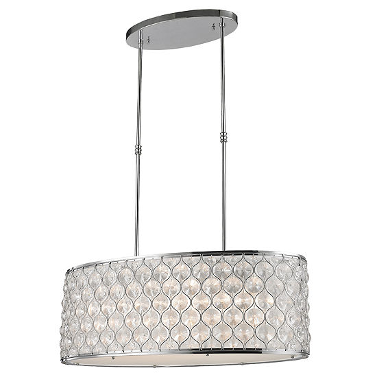 Paris Collection 12 Light Chrome Finish With Clear Crystal Pendant L32 W16 H11