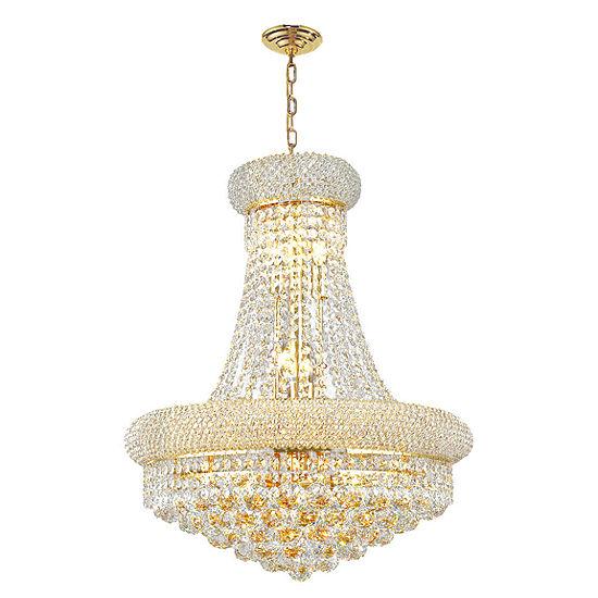 Empire Collection 12 Light Medium Round Crystal Chandelier