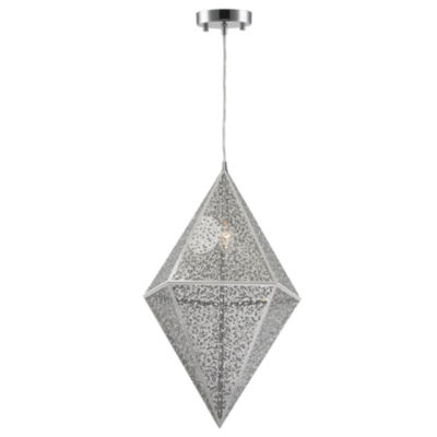 Geometrics Collection 1 Light Stainless Steel Pendant