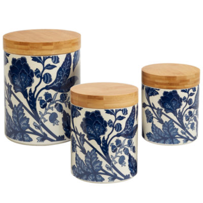 Certified International Blue Indigo 3-pc. Canister