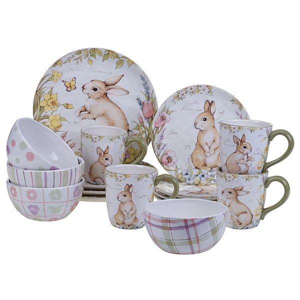 Certified International Bunny Patch 16-pc. Dinnerware Set
