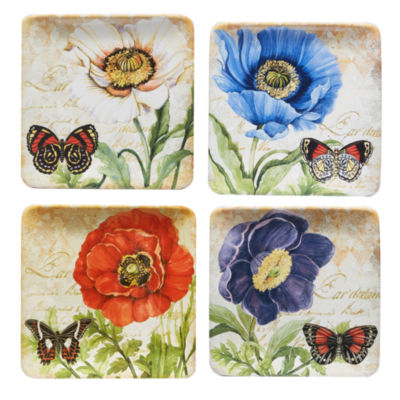 Certified International Poppy Garden 4-pc. Salad Plate