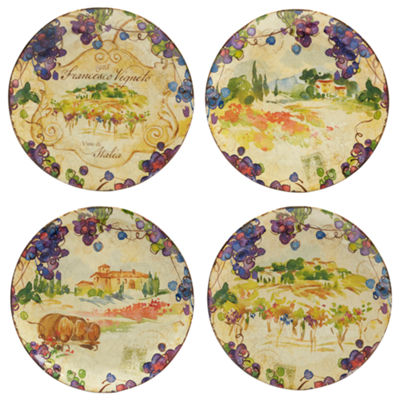 Certified International Vino 4-pc. Dinner Plate