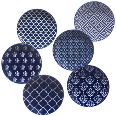 Certified International Blue Indigo 6-pc. Appetizer Plate