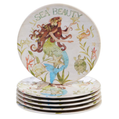 Certified International Sea Beauty 6-pc. Salad Plate