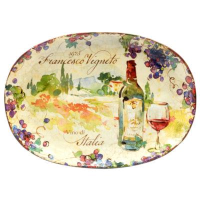 Certified International Vino Serving Platter