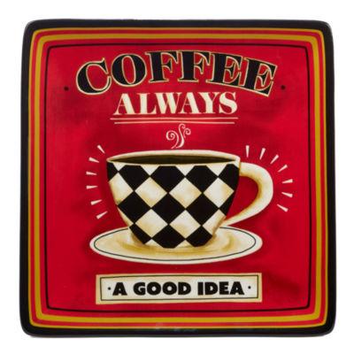 Certified International Coffee Always Serving Platter
