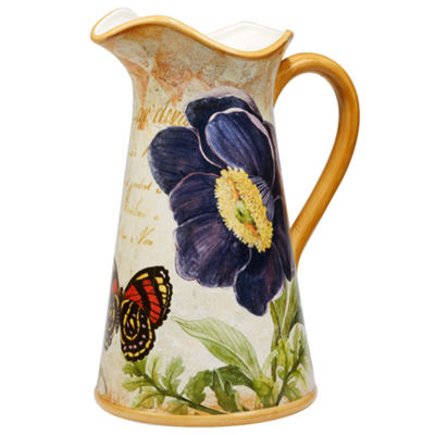 Certified International Poppy Garden Serving Pitcher