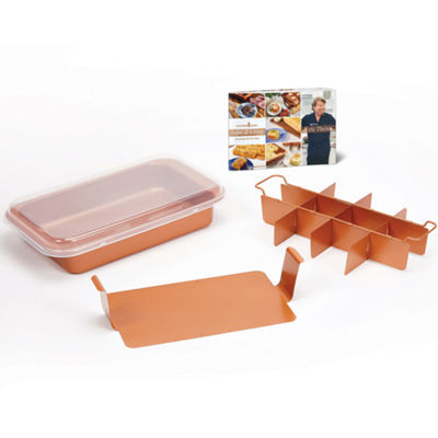 As Seen on TV Copper Chef Medium Bake 11x7 Crisp Pan