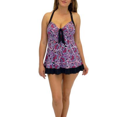 A Shore Fit Fantastical Paisley Dresskini 2 Piece Swimsuit