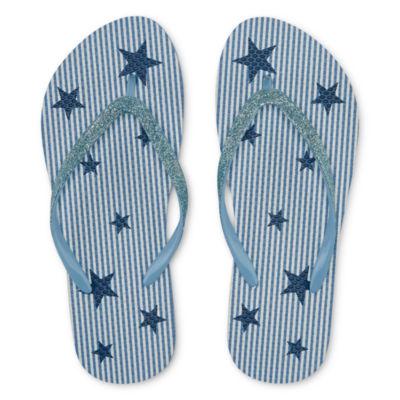 Mixit Womens Americana Print Flip-Flops