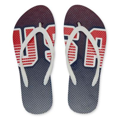 Mixit Americana Print Flip-Flops