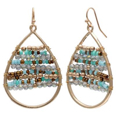 Mixit Clr 0418 Turq Muti Drop Earrings