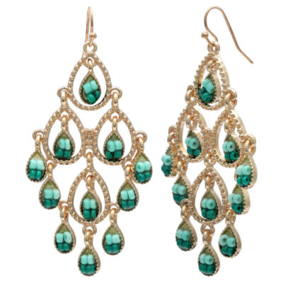 Mixit Clr 0418 Turq Muti Chandelier Earrings
