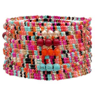 Mixit Clr 0418 Turq Muti Womens Stretch Bracelet
