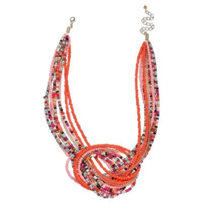 Mixit Clr 0318 Turq Muti Beaded Necklace