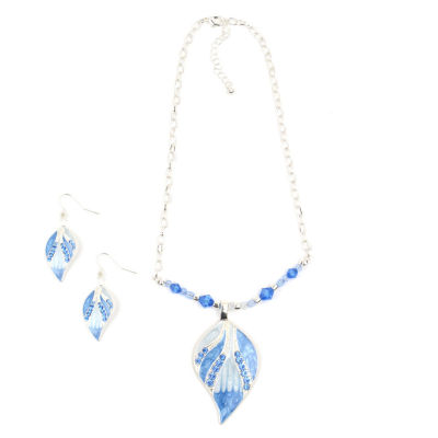 Mixit Blue Silver Tone 2-pc. Jewelry Set
