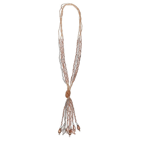 Bold Elements 40 Inch Bead Y Necklace