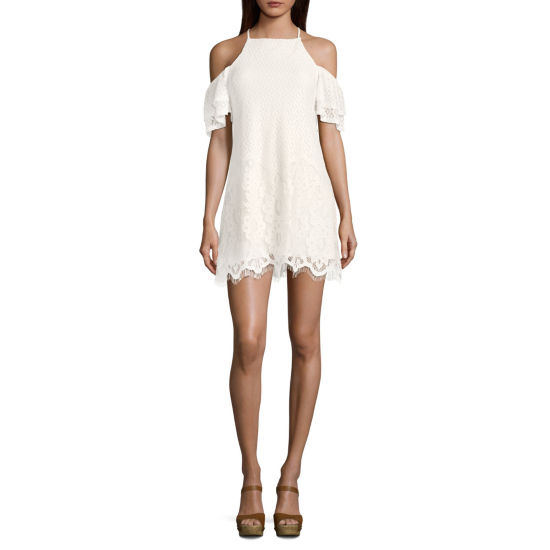 Speechless Short Sleeve Shift Dress-Juniors