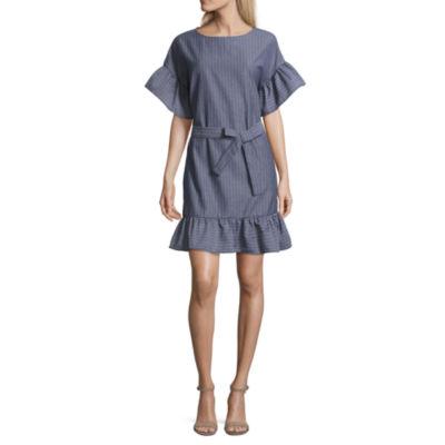 Weslee Rose Short Sleeve Tie Waist Dress