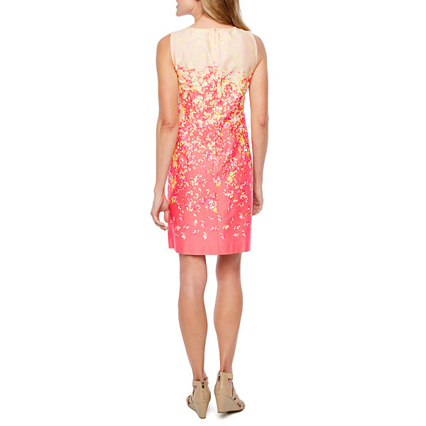 Be by CHETTA B Sleeveless Floral Shift Dress