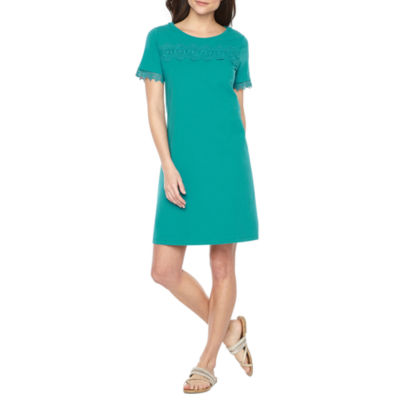 St. John's Bay Short Sleeve Shift Dress