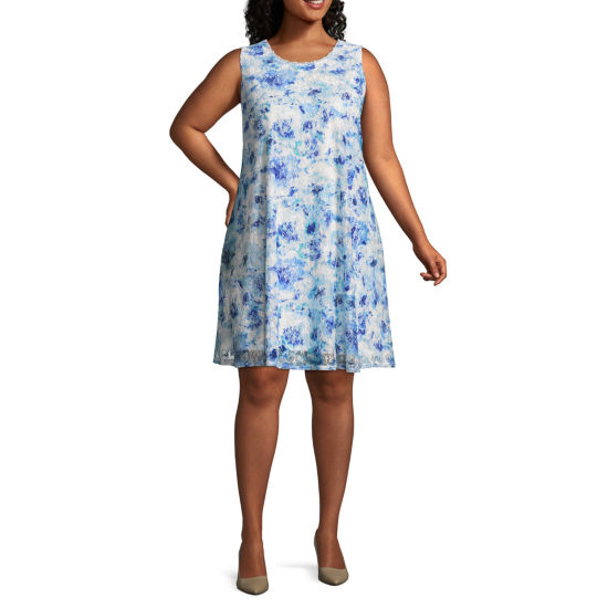 R & K Originals Sleeveless Floral Fit & Flare Dress - Plus