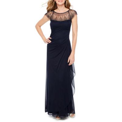 DJ Jaz Sleeveless Beaded Evening Gown
