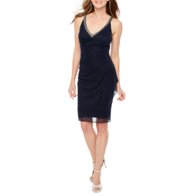 DJ Jaz Sleeveless Embellished Sheath Dress