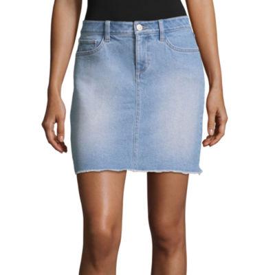 """A.N.A Denim Mini Skirt - Tall 17"""""""