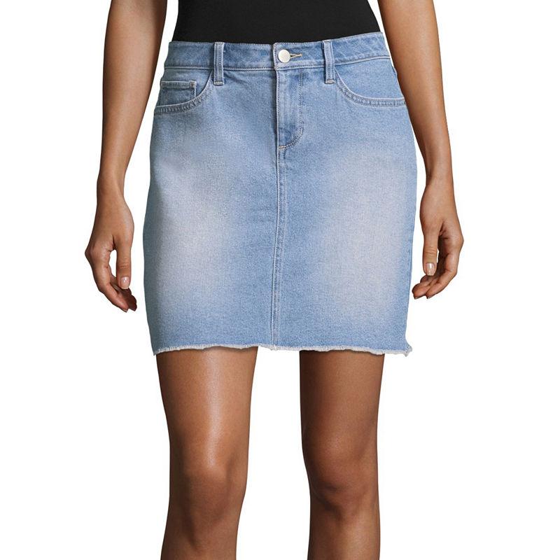 A.N.A Denim Mini Skirt, 17, Womens, Baby Blue, Size 2 Tall