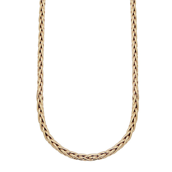 Made in Italy 10K Gold 22 Inch Hollow Wheat Chain Necklace