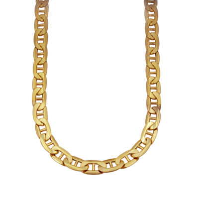 Made in Italy 10K Gold 22 Inch Hollow Chain Necklace