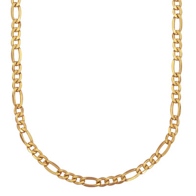 Made In Italy 10K Gold Hollow Figaro 22 Inch Chain Necklace