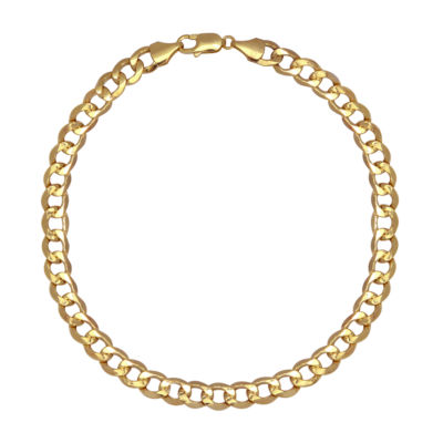 Made In Italy Mens 8 1/2 Inch 10K Gold Chain Bracelet