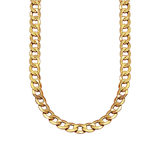 Made in Italy 10K Gold 22 Inch Hollow Curb Chain Necklace