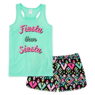 Arizona 2pc Fiesta Short Pajama Set Girls 4-16 and Plus