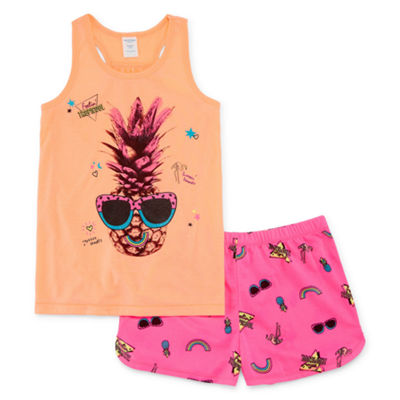 Arizona 2-pc. Pineapple Tank and Short Pajama Set - Girls 4-16 & Plus