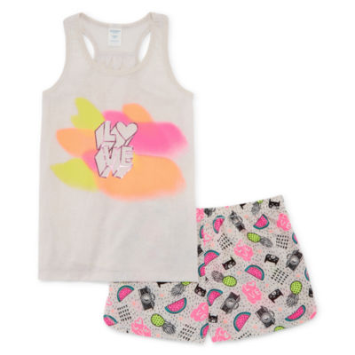 Arizona 2pc.Love Tank and Short Pajama Set - Girls 4-16 & Plus