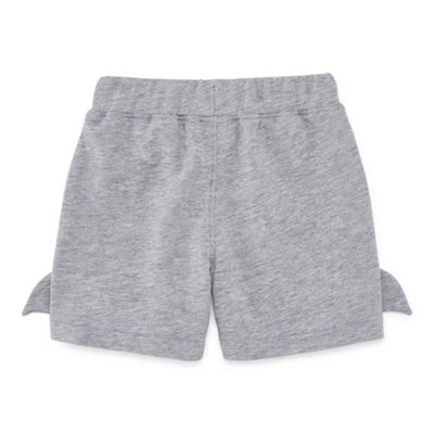Okie Dokie 3D Shark Pull-On Shorts - Baby Boy NB-24M