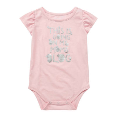 Okie Dokie Flutter Sleeve Bodysuit - Baby Girl NB-24M