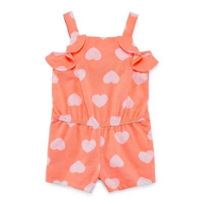 Okie Dokie Printed Sleeveless Romper - Baby Girl NB-24M