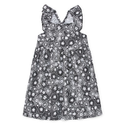 Okie Dokie Short Sleeve Sheath Dress - Toddler Girls