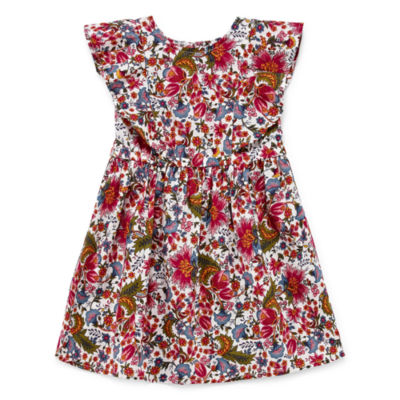 City Streets Sleeveless A-Line Dress - Toddler Girls